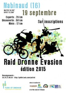 AFFICHE RAID DRONNE EVASION 2015