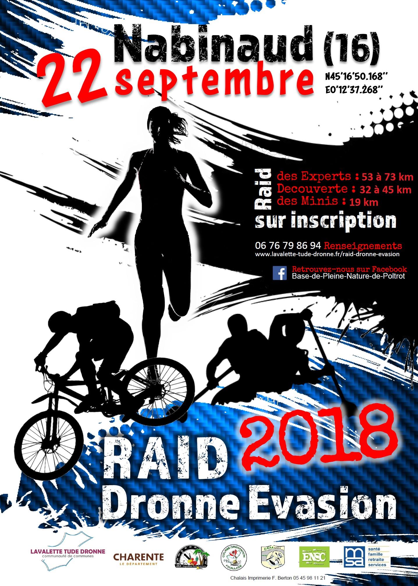 raid dronne evasion2018 affiche